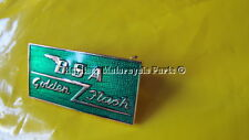 new GREEN enamel BSA GOLDEN FLASH METAL LAPEL pin BADGE brooch made in England