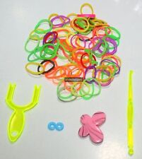 Loom Bands Refill With Charm S Clip & Plastic Hook Loom Fork Stick