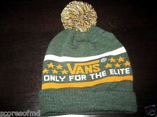 Vans shoes Only For The Elite Beanie Pom Sycamore Green OSFA NWT Ships Free NWT