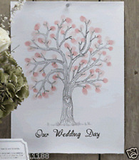 New wedding vintage affair fingerprint tree canvas alternative guest book