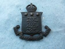 WWI British Army Hat Badge Indian Army Ordnance Corps India WW1