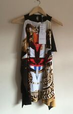 GIVENCHY TRIBAL FACE SL MULTICOLOUR KIMONO TOP SIZE M UK 10 RRP £725