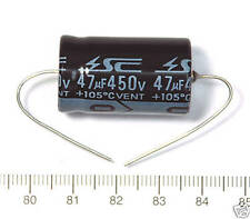 5pc Electrolytic Capacitor GHA Axial 2000hr +105℃ RoHS 47uF 450V φ18x31mm SC