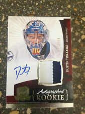 10/11 UD Cup AUTO Rookie Patch Dustin Tokarski rc 2 clr /249