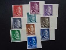 GERMANY POLAND 1941 GENERALGOUVERNEMENT ADOLF HITLER IMPERFORATED MNH  10 pieces
