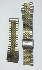 New Oris Stainless Steel Watch Band 21-18mm 18mm End Catch Two Tone