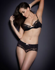 Agent Provocateur JOSELINE BRIEF in BLACK & PINK FRENCH LACE - AP Size 5 - BNWT