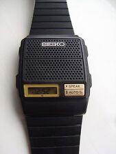 SEIKO A965-4000 Vintage LCD hablando reloj 80S fwo Raro