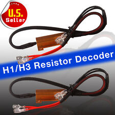 2 x H1 /H3 LED Load Resistor Canbus Error Free Wiring Harness For DRL Fog Lights
