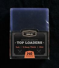 (100) CBG 3.5MM THICK TRADING CARD TOPLOADERS & FREE THICK SLEEVES 140 Pt. TL12