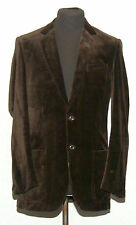"C & A VELVET BLAZER JACKET 38"" BROWN"