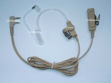 Beige Surveillance Kits Acoustic Tubes Headset Ear piece phone For Kenwood Radio