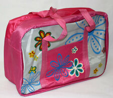 Baby Nappy Changing Overnight Travel Bag Flowers Design PINK
