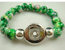 new Diy handmade jade beads Bracelet fit chunk  snap button hot sell free a5w