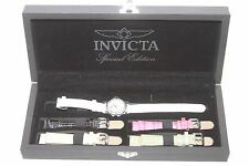 Invicta Women's 1029 Mother-Of-Pearl Dial w Interchangeable Leather Straps Watch