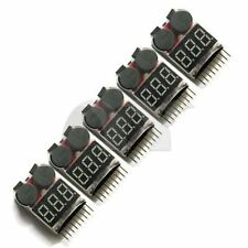 5x 2in1 Indicator 1-8s RC Lipo Battery voltage Testers low voltage Buzzer Alarm