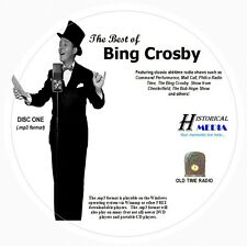 THE BEST OF BING CROSBY - 266 Shows Old Time Radio In MP3 Format OTR On 3 CDs
