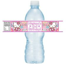 12 Hello Kitty Birthday Party Or Baby Shower Water Bottle Stickers Labels Favors