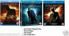 The Dark Knight Trilogy Blu ray Original New UK Batman Begins Rises Sealed New