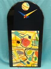FABULOUS 70s ABSTRACT MID CENTURY MODERN ACRYLIC LACQUERED WALL CLOCK EMPIRE ART