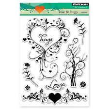 PENNY BLACK RUBBER STAMPS CLEAR LOVE & HUGS NEW clear STAMP SET