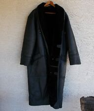 Very rare Walter Davoucci black shearling heavyweight Mens long coat Large nice