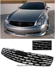 For 03-07 Infiniti G35 Skyline 2Dr Coupe Frot Hood Insert Emblemless Grille