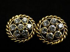 """""""BEAUTIFUL"""" GORGEOUS!!! Authentic CHANEL VINTAGE RHINESTONES EARRINGS FRANCE 23"""