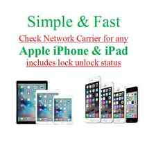 Apple iPhone & iPad network carrier lock unlock status check worldwide