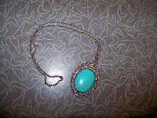 Vintage Retro Faux Turquoise Southwest Style Necklace