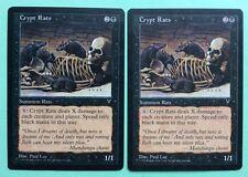 MTG MAGIC Carte x2 RATS DES CRYPTES Crypt Rats Ext. VISIONS 1996
