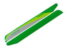 KBDD 690mm FBL White / Lime / Yellow Carbon Fiber Main Rotor Blades - Trex 700
