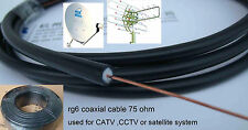 RG 6 COAXIAL CABLE / ROLL FOR CABLE TV, DTH, DISH TV - OUTDOOR USE - 75 FEETS