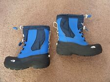 FABULOUS Boy's THE NORTH FACE Winter Snow Boots UK 2 Blue & Black