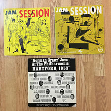 Norman Granz Jam Session #1, #4,  & Hartford 1953 all Reissues with VG++ vinyl