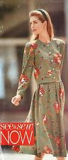 NEW & VINTAGE 1990 'BUTTERICK' CHANNEL STYLE TOP & SKIRT PATTERN 5249 SIZE 8-12