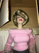 "Franklin Mint Marilyn Monroe Porcelain Doll ""Sweater Girl"""