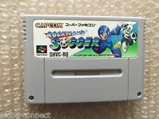 "Rockman Soccer ""No Box/No Manual"" Nintendo Super Famicom SNES Japan"