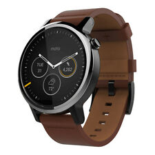 Motorola Moto 360 2nd Gen. - Mens 46mm, Silver with Cognac Leather