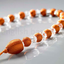 1 x Orange Modern Earl Designer Beaded Rope Curtain Tie Back Tieback