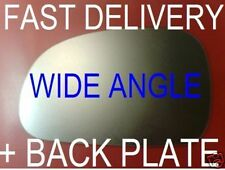 PEUGEOT 406 1995-2004  REPLACEMENT CONVEX WING MIRROR GLASS +PLATE RIGHT OR LEFT