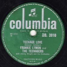 RARE 1957 FRANKIE LYMON 78  PAPER CASTLES / TEENAGE LOVE  COLUMBIA DB 3910 E-/V+