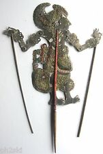 Antique Vtg Wayang Kulit Shadow Puppet Bali Indonesia Leather Wood #1