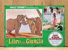 IL LIBRO DELLA GIUNGLA fotobusta poster Disney Mowgli Elefanti The Jungle Book