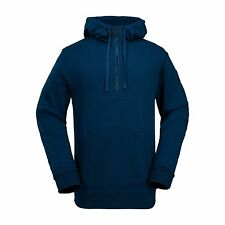 2017 NWT MENS VOLCOM CLINTON FLEECE SNOWBOARD HALF ZIP HOODIE $75 L blue black
