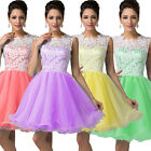 Short Tulle Evening Prom Bridesmaid Dress Formal Gown Size 6 8 10 12 14 16 18 20