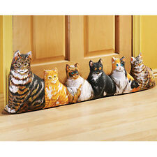 Cat Draft Stopper Door Stop Block Drafts Print on 2 Sides Feline Pet Decor 2B