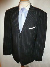 MENS HUGO BOSS ANGELICO PARMA BLACK WOOL AUTUMN SUIT JACKET 40 WAIST 34 LEG 31