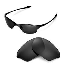 New Walleva Polarized Black Replacement Lenses For Oakley Half Wire XL