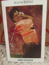 1992 Mueller Golfs Greatest Fred Couples Auto Signed Card Masters